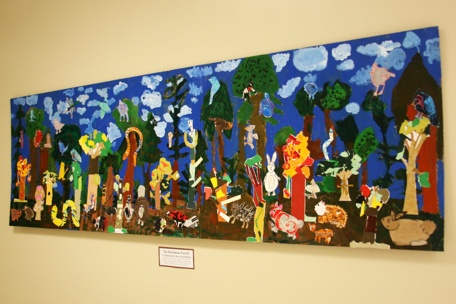 Briargrove Elementary Art Page The Deciduous Forest A Collaborative Recycled Habitat