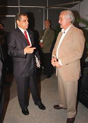 Fidel Herrera Beltrán con los escritores Carlos Fuentes y Sergio Pitol