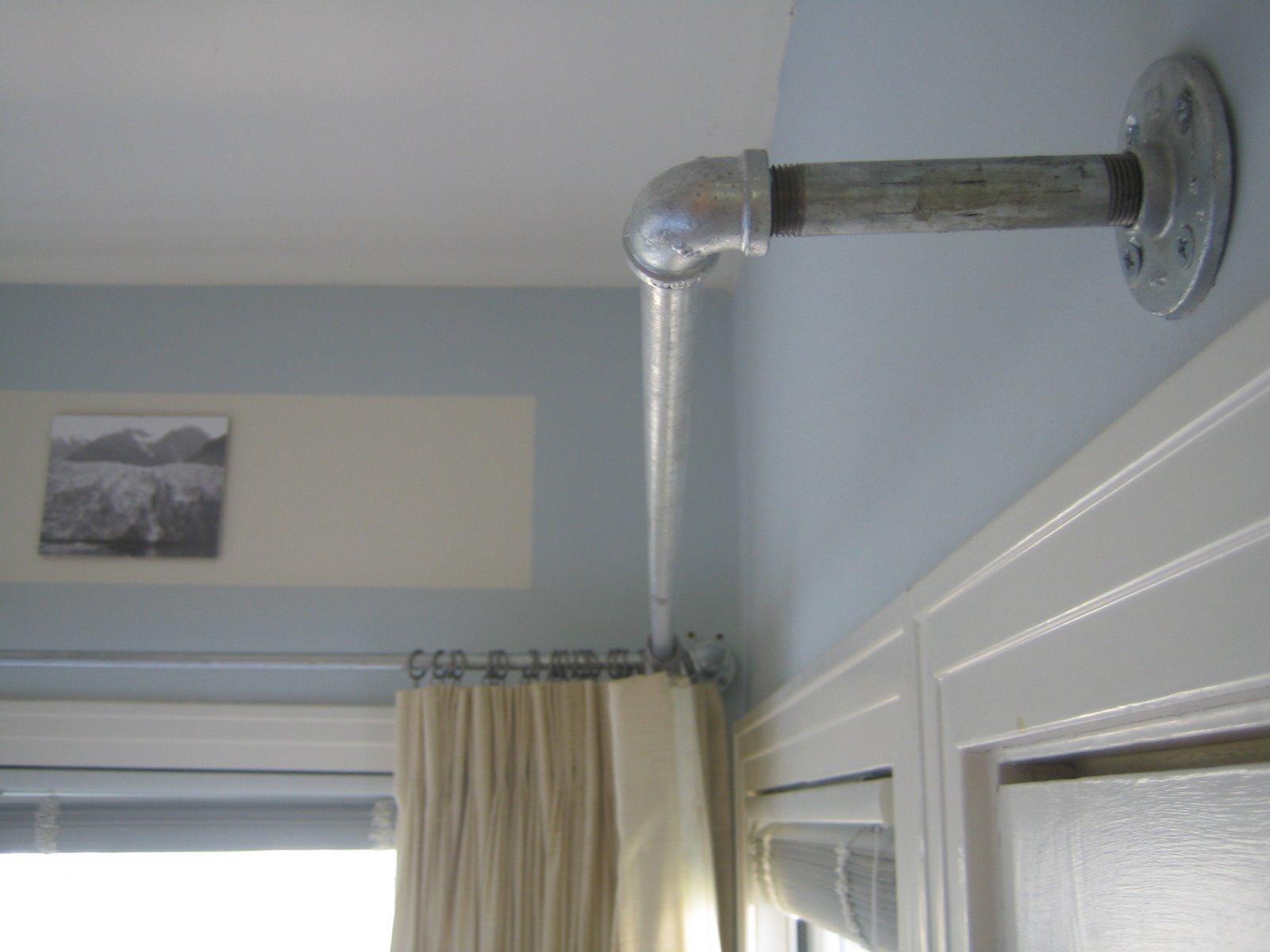 Closet curtain rod