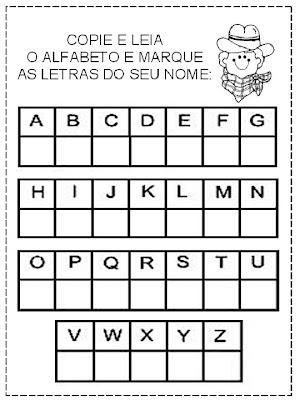 alfabeto ATIVIDADES LETRAS E NÚMEROS para crianças