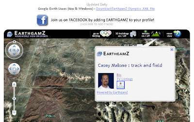 Map Your favorite olympic athletes on Google Earth with EarthGamz ...