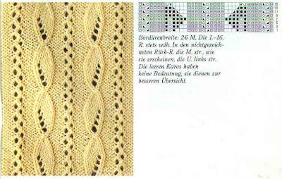 Ажурное вертикальное вязание спицами 261