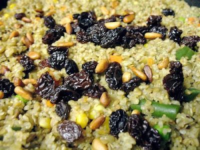 ... Cooks Gourmet: Bulgur Pilaf with Pine Nuts, Raisins, and Orange Zest