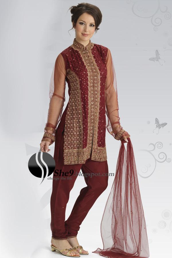 Mehndi Designs Churidar : Mehndi fashion designs churidar with anarkali