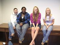 Jaclyn Hendrix, Kayland Lamar, Brittany Carson and Julia Roe