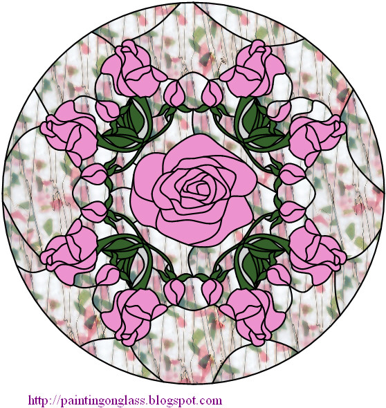 Stained Glass Pattern - Luther's Rose - Creative Light Filtering