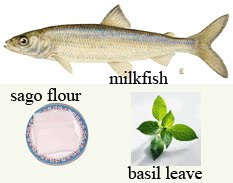 Milkfish fry with basil