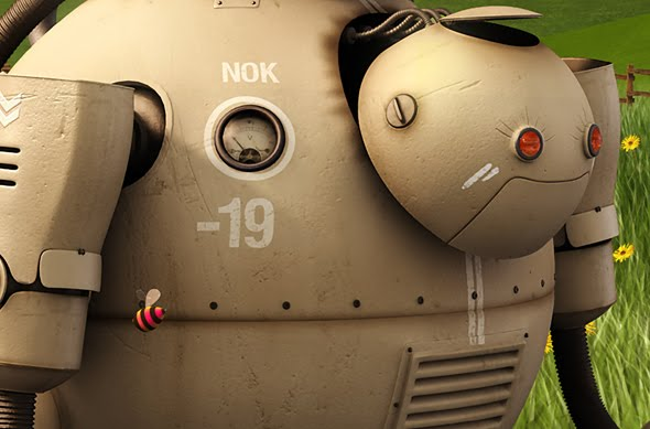 30 Awesome 3D Robots Illustrations