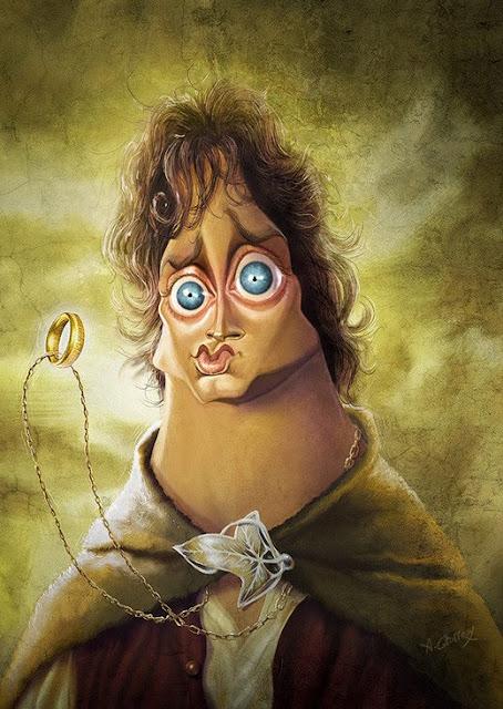Celebrity Caricatures frodo