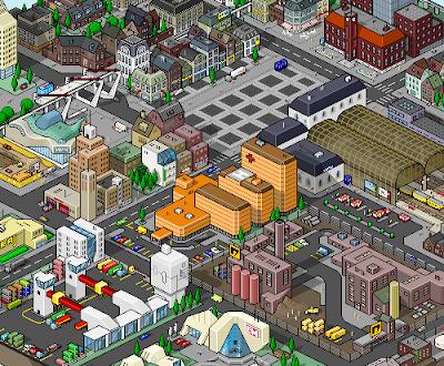 pixel art boxed town
