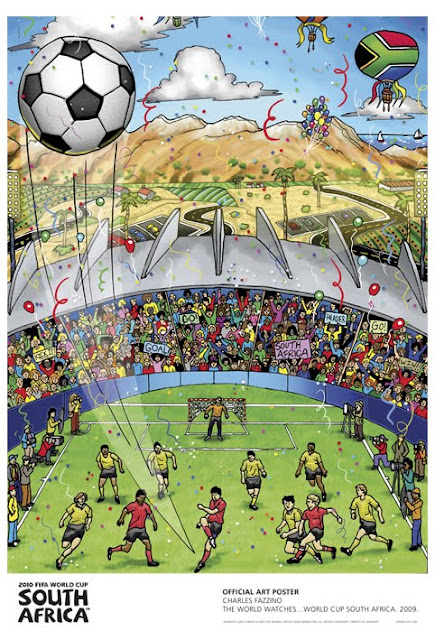 world cup 2010 south africa poster design by Fazzino