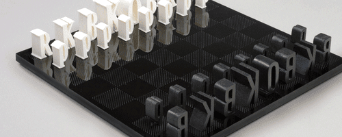 Typographic Chessboard