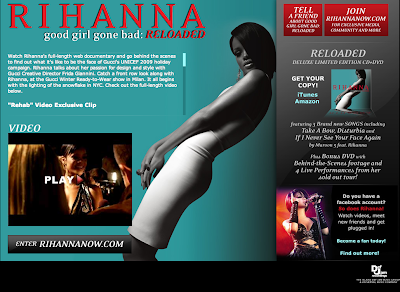 Rihanna web designs