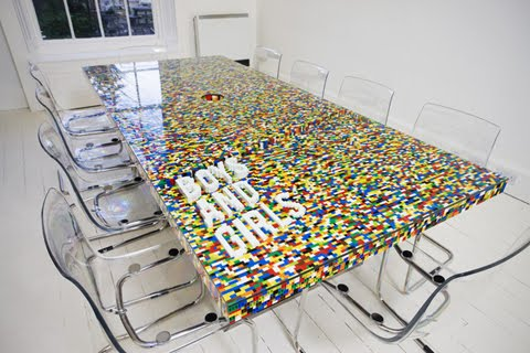 Cool Conference Room Table Made of LEGO