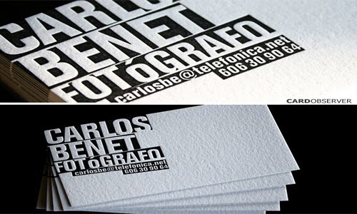 Black & White Letterpress business card