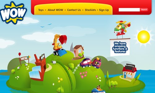 wow toys kid website design
