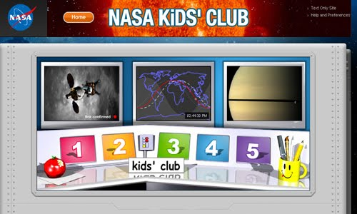 NASA Kids Club website design