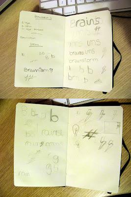 Brainstorm logo design process