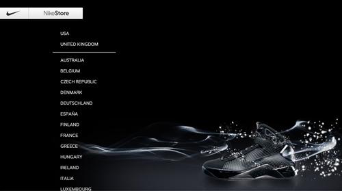 nike ecommerce web design