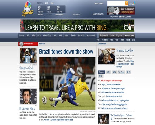 Showcase Of Beautiful Sports Websites
