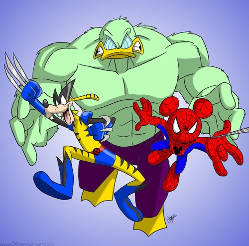 SPIDER-MOUSE, THE INCREDIBLE DUCK and GOOFERINE