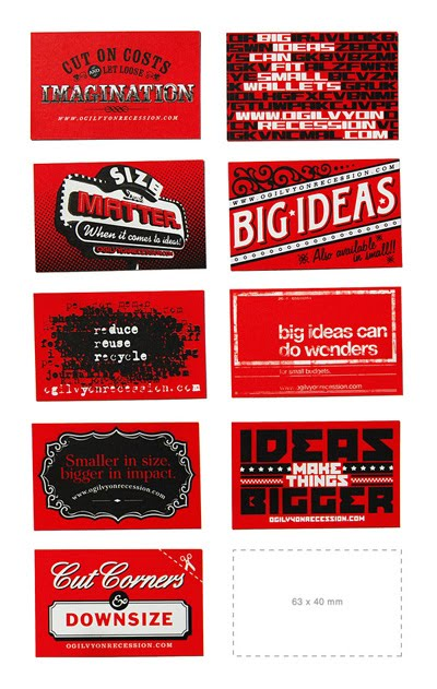Undersized Recession Business Cards 1