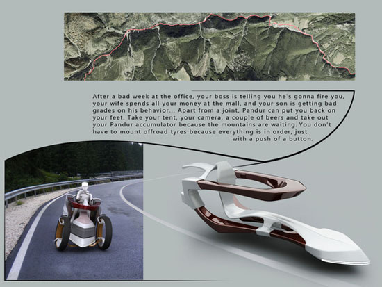 Pandur 3d concept car design
