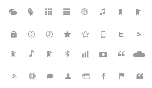 Minimalist Icon Sets