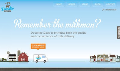 Doorstep Dairy web design