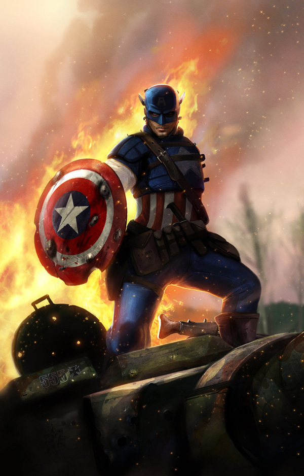Captain America by adonihs