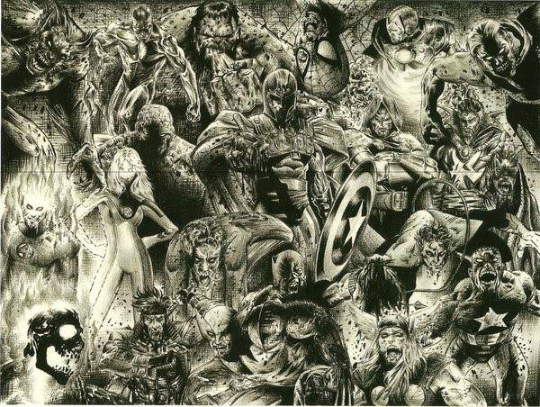Marvel Zombies by charliedonkinart