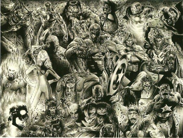 Marvel Zombies by charliedonkinart