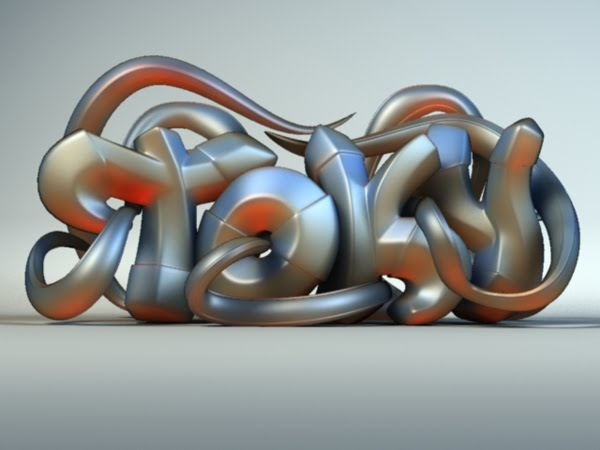 3d graffiti by pixelchaot