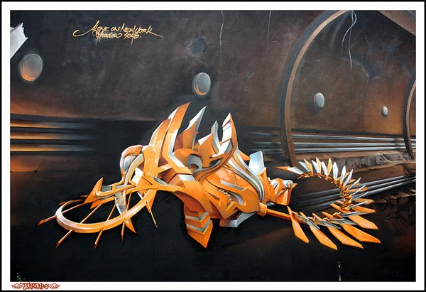 3D graffiti by