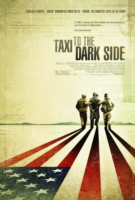 Taxi to the Dark Side retro poster