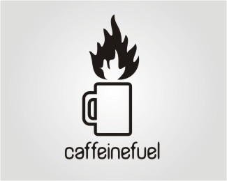 caffeinefuel logo design by NURBS