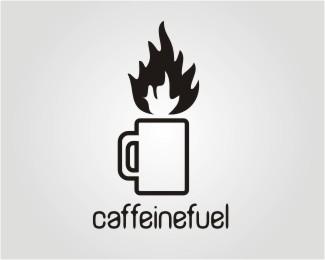 caffeinefuel logo design by NURBS