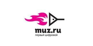 Muz.ru Logo Design