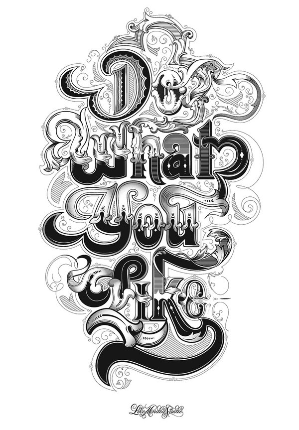 do what you like typography