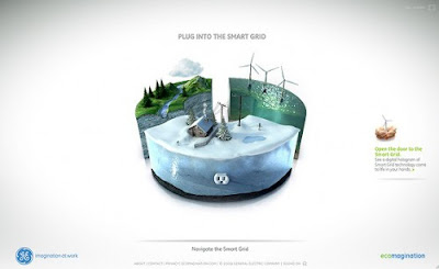 GE Ecomagination flash web design