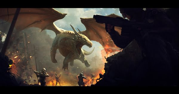 Dragon fight by Andree Wallin