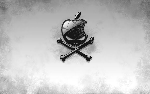 Hackintosh black and white Wallpaper