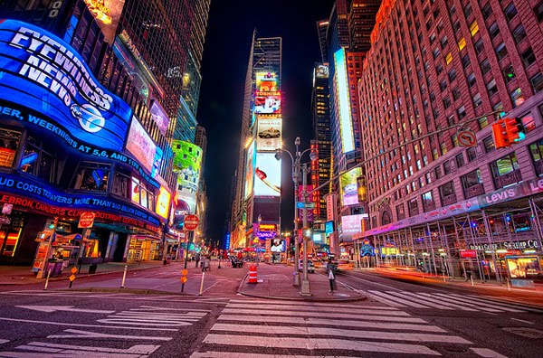 An Almost Empty Time Square by Brandon Watts