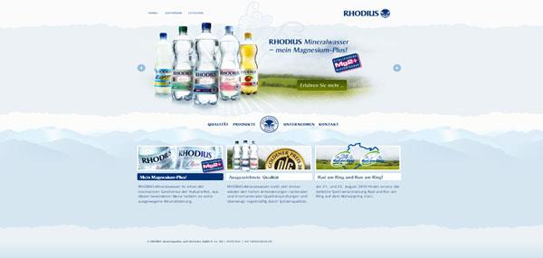 Rhodius Mineralbrunnen Web Design