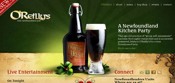 OReillys Pub Web Design