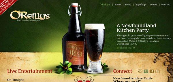 OReillys Pub Web Design
