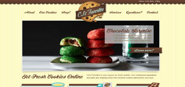 Fresh Cookies Web Design