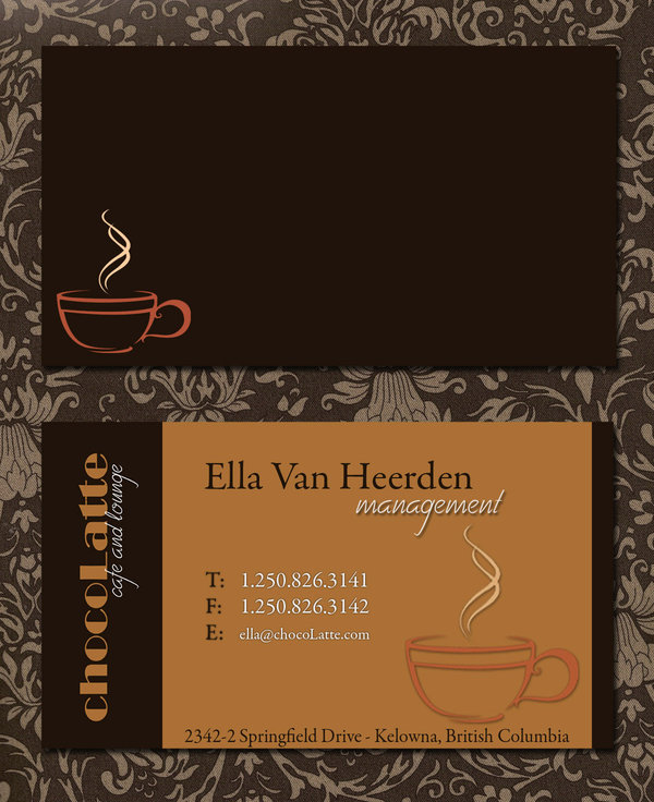 chocoLatte Business Card