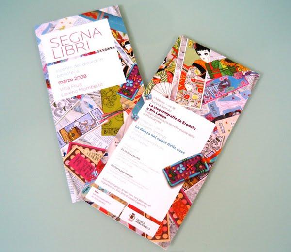 segnalibri brochure design