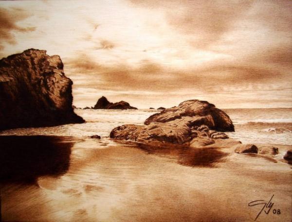 Coast Pyrography by Juan Carlos Gonzalez